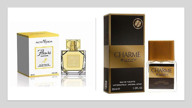 Perfume Fleurs Alta Moda 100ml + 1 Perfume Charme 25 ml New Concept