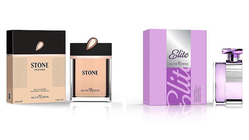 Perfume Stone Dourado 100ml + Perfume Elite 100 ml - Alta Moda