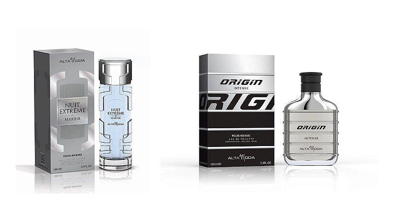 Perfume Extreme Marine 100ml + Perfume Origin Black 100ml - Alta Moda