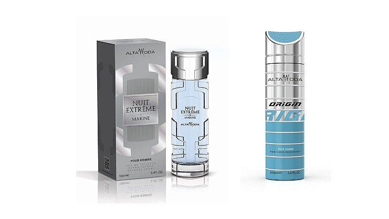 Perfume Extreme Marine 100ml + Desodorante Origin Azul 200ml - Alta Moda