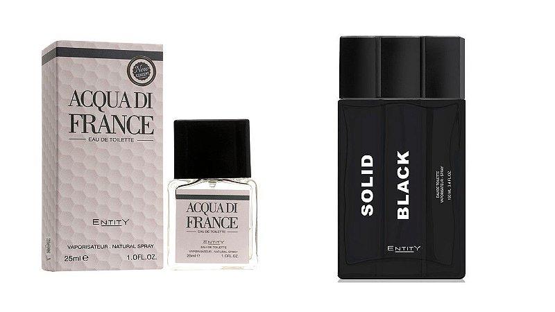 Acqua di France  25ML + SOLID BLACK 100 ML SEM CAIXA