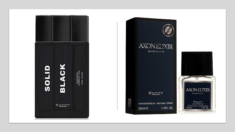 AXON ELIXIR 25ML + SOLID BLACK 100 ML SEM CAIXA