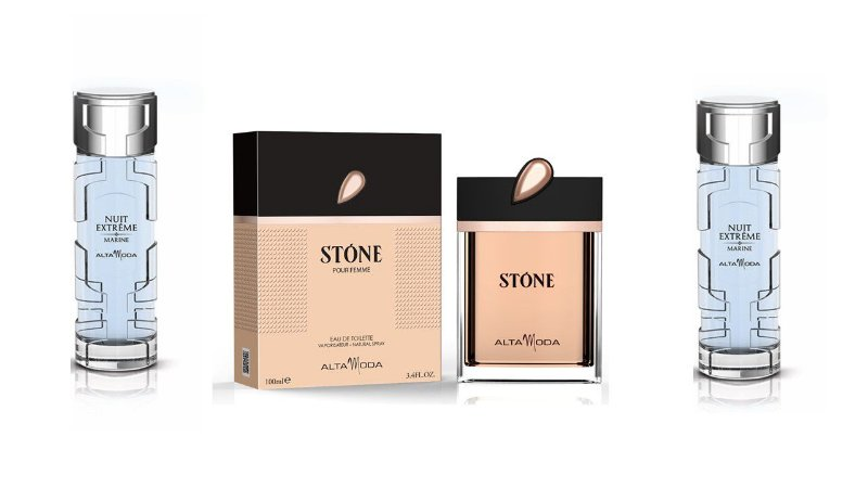 Kit Perfume Stone Dourado 100ml  com caixa + 2 pç Marine 100ml sem caixa