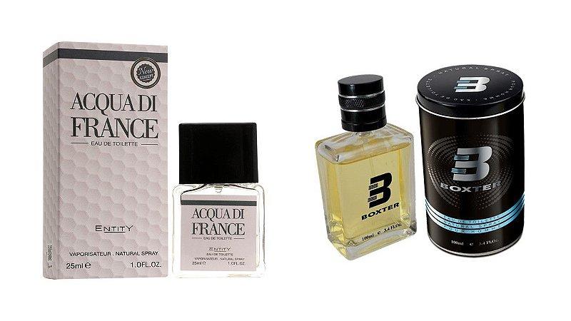 PERFUME BOXTER BLACK  100ML + ACQUA DI FRANCE ENTITY 25ML- 1 PÇ CADA