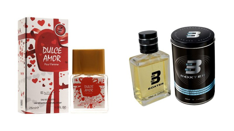 PERFUME BOXTER BLACK 100ML + DULCE AMOR ENTITY 25ML- 1 PÇ CADA
