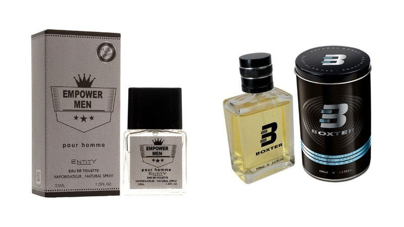 PERFUME BOXTER BLACK  100ML + EMPOWER MEN ENTITY 25ML- 1 PÇ CADA