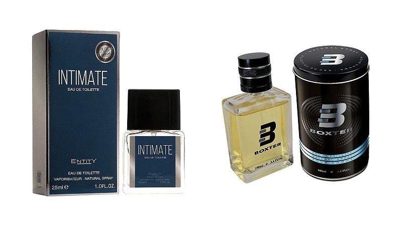 PERFUME BOXTER BLACK 100ML + INTIMATE ENTITY 25ML- 1 PÇ CADA