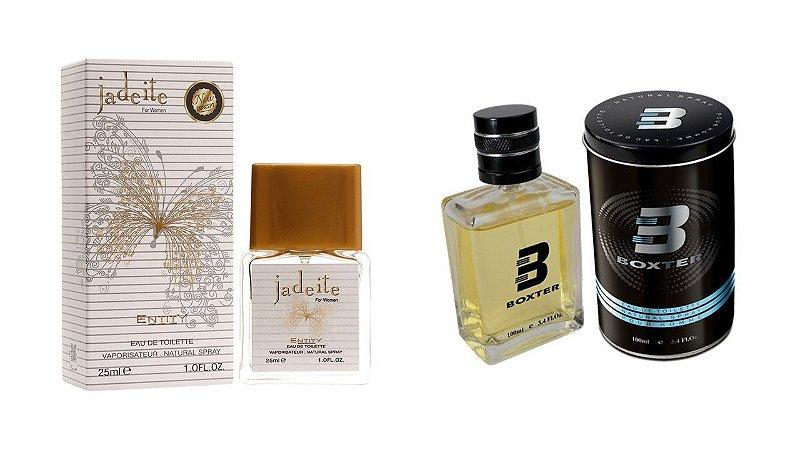 PERFUME BOXTER BLACK 100ML + JADEITE ENTITY 25ML- 1 PÇ CADA
