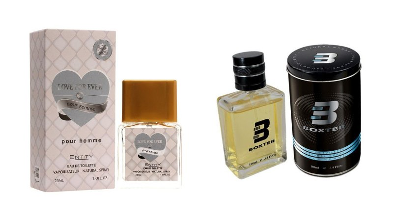 PERFUME BOXTER BLACK 100ML + LOVE FOR EVER  ENTITY 25ML- 1 PÇ CADA