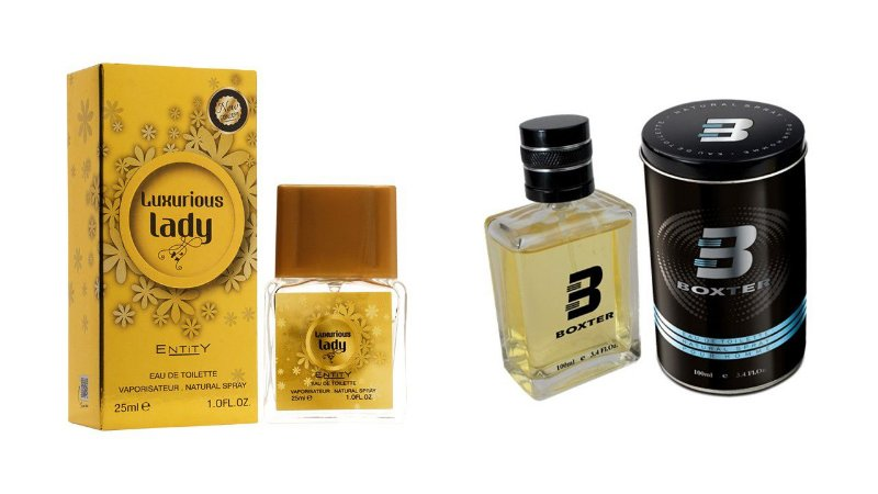 PERFUME BOXTER BLACK 100ML + LUXURIUS LADY ENTITY 25ML- 1 PÇ CADA