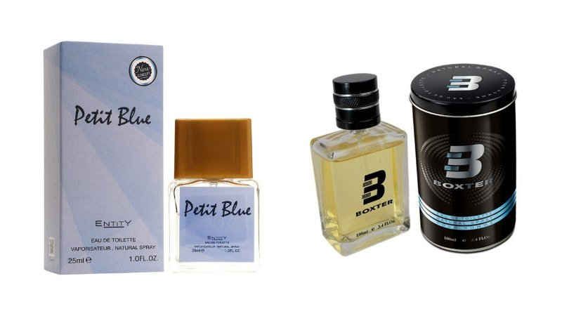PERFUME BOXTER BLACK  100ML + PETIT BLUE ENTITY 25ML- 1 PÇ CADA