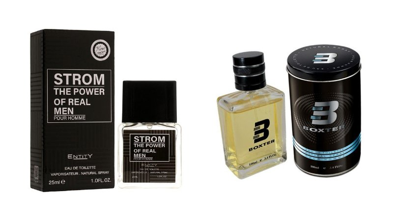 PERFUME BOXTER BLACK 100ML + STROM POWER ENTITY 25ML- 1 PÇ CADA