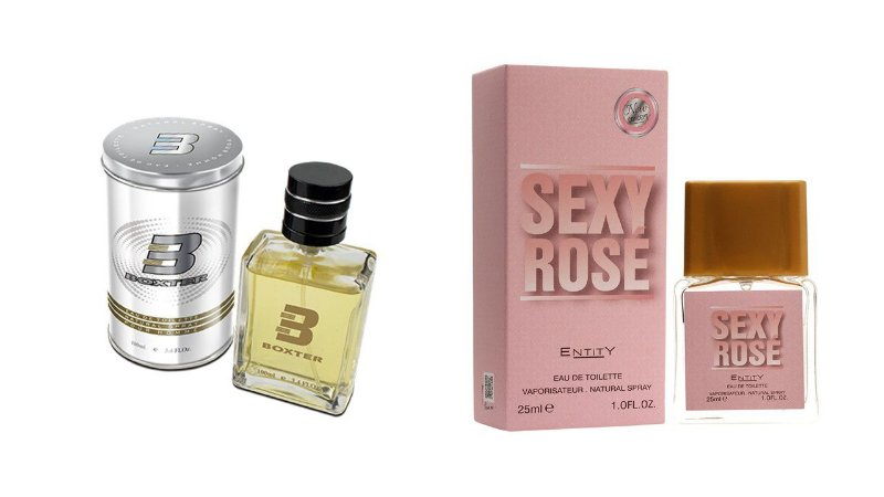 PERFUME BOXTER WHITE 100ML + SEXY ROSE ENTITY 25ML- 1 PÇ CADA