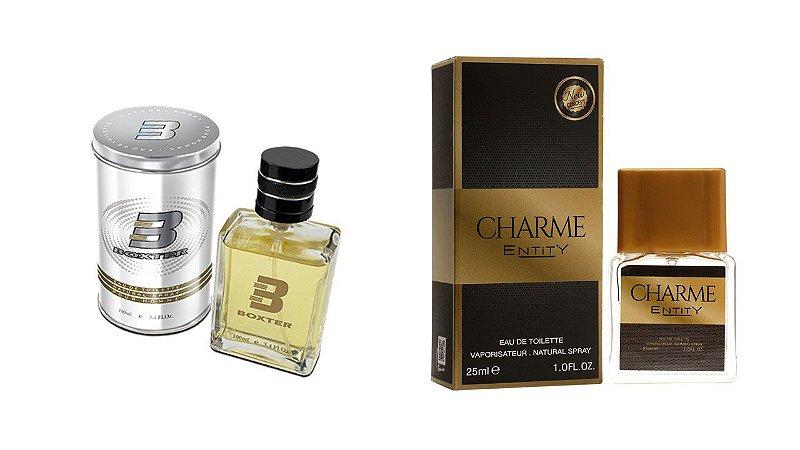 PERFUME BOXTER WHITE 100ML + CHARME ENTITY 25ML- 1 PÇ CADA