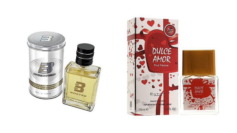 PERFUME BOXTER WHITE 100ML + DULCE AMOR ENTITY 25ML- 1 PÇ CADA