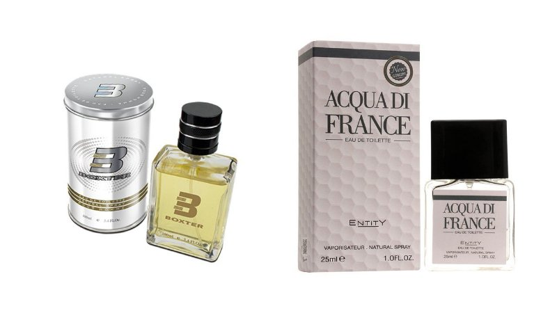 PERFUME BOXTER WHITE 100ML + ACQUA DI FRANCE ENTITY 25ML- 1 PÇ CADA