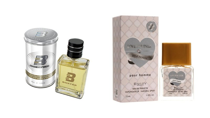 PERFUME BOXTER WHITE 100ML + LOVE FOR EVER ENTITY 25ML- 1 PÇ CADA