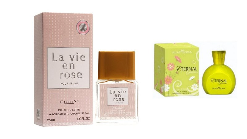 PERFUME LA VIE EN ROSE 25 ML + PERFUME ETERNAL 100ML - OFERTA ESPECIAL