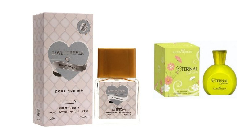 PERFUME LOVE FOR EVER 25 ML + PERFUME ETERNAL 100ML - OFERTA ESPECIAL