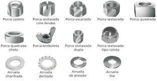 PORCAS E ARRUELAS - TODOS O MODELOS E MEDIDAS