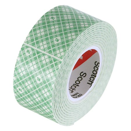 Fita Dupla Face 3M Scotch® Fixa Forte Espuma - Uso Interno - 24 mm x 1,5 m