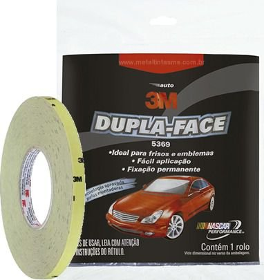 DUPLA FACE AUTO 5369 - 12mm X 20MT - 3M
