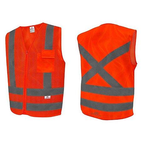 Colete Refletivo amarelo ou laranjado fluorescente c/ 1 bolso