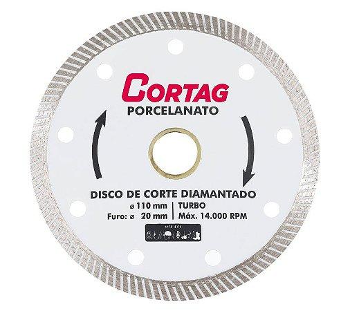 """Disco de Corte Diamantado Turbo 4.3/8"""" - CORTAG"""