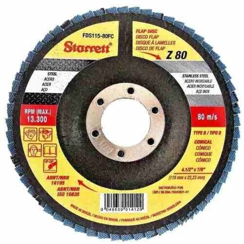"""DISCO FLAP 4.1/2"""" G 80 - STARRETT"""