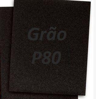 Folha Lixa Ferro 3M™ 221T, grão P80 - 3M  *(cada 10 unidades)*