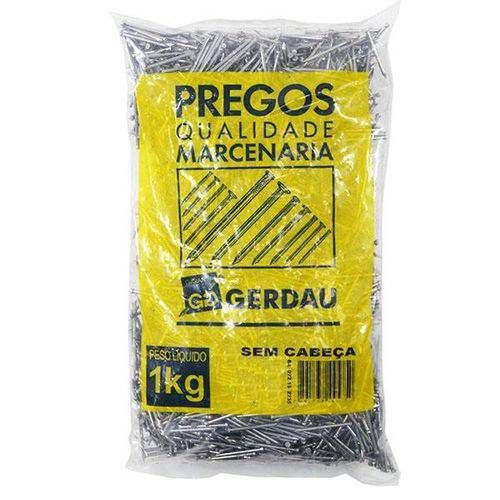 PREGOS 14X18 S/ CABEÇA 1 KG - GERDAU