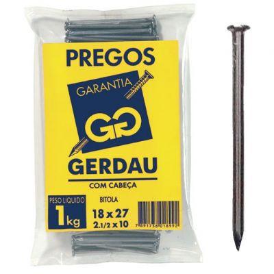 PREGOS 18X27 C/ CABEÇA 1 KG - GERDAU