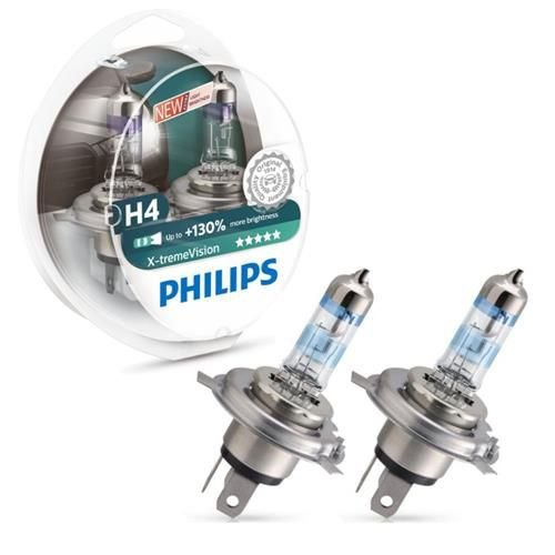 Lâmpada Philips Xtreme Vision H4 130%