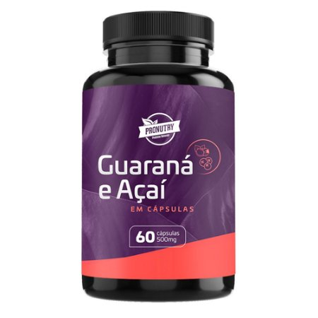 GUARANÁ COM AÇAÍ - 60 cápsulas - 620mg