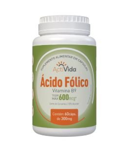 Ácido Fólico - Vitamina B9 (Teor Máx. 600mcg)