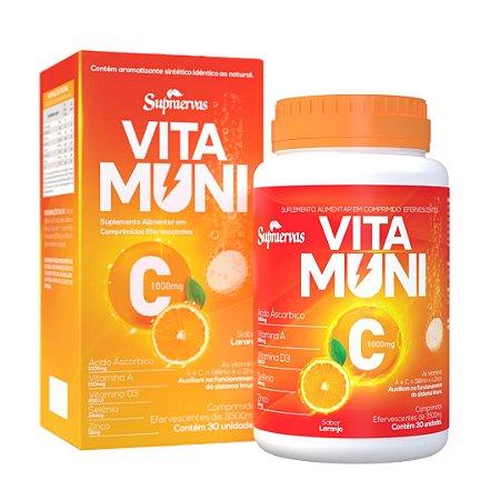 VITAMUNI C - 30 Comprimidos - EFERVESCENTE - SUPRAERVAS
