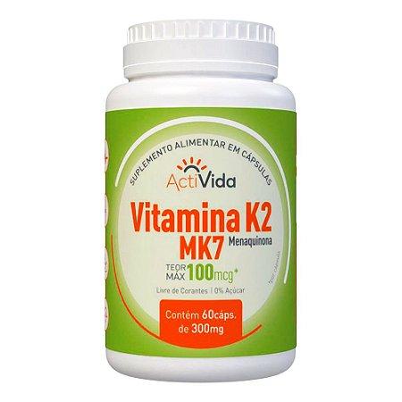 VITAMINA K2 MK7 - 60 CÁPSULAS - 300mg