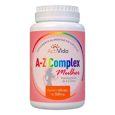 A-Z COMPLEX MULHER - 60 CÁPSULAS - 500mg