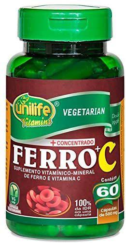 Ferro + Vitamina C Unilife 60 cápsulas