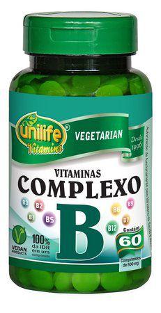 Vitaminas do Complexo B Unilife 60 Comprimidos