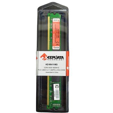Memória Ram para Computador DDR3 8GB  KeepData 1600MHz