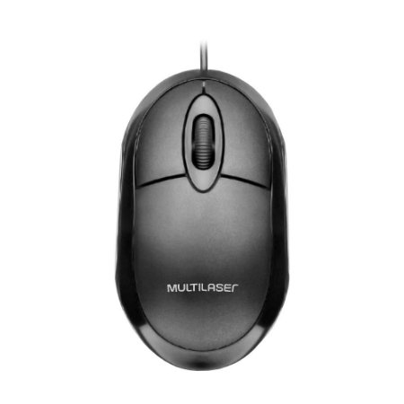 Mouse óptico com fio multilaser M0300