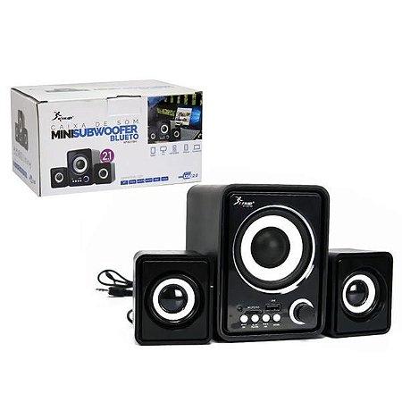 Caixa de Som para PC bluetooth knup KP-6017BH