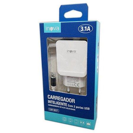Carregador de Celular Iphone Inova 3.1A CAR-9017