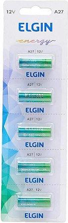 Bateria Alcalina Elgin A27 Cartela com 5