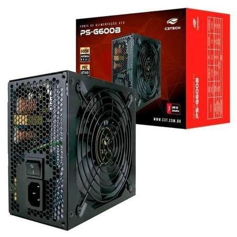Fonte Atx Real C3 Tech 600W PS-G600B