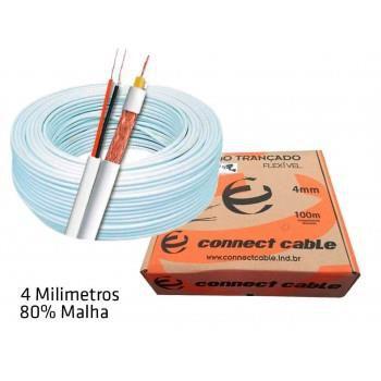 Cabo Trançado Flexível Connect Cable 100M 4MM 80% Malha