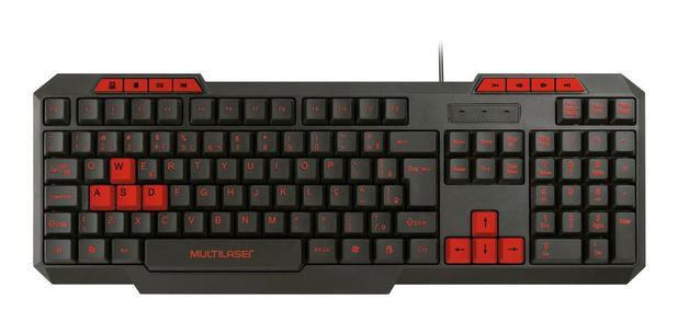 Teclado Gamer Slim Multilaser TC242