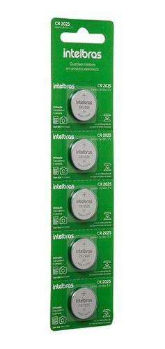 Bateria CR2025 Intelbras Cartela com 5 Unidades