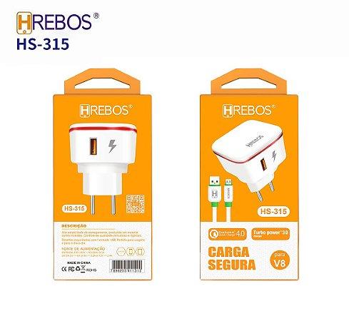 Carregador de Celular V8 Hrebos HS-315
